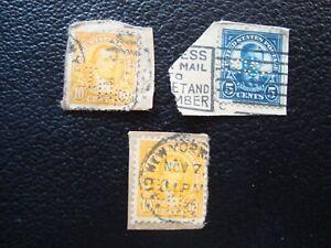 Vereinigte-Staaten-3-Gestempelte-Briefmarken-Perforiert-A39