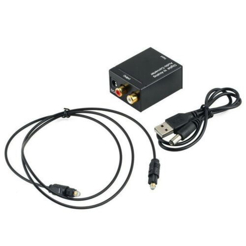 Optical 3.5mm Coaxial Toslink Digital Analog Audio Adapter Konverter L//R Kit AIP