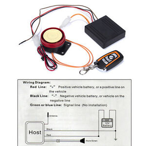 Astounding 12V Motorcycle Bike Keyless Remote Control Anti Theft Security Alarm Wiring Cloud Staixuggs Outletorg