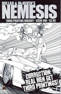 1:10 variant NEMESIS #4 MARK MILLAR kick ass ICON MARVEL COMIC 1st print