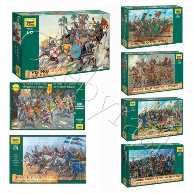 ZVEZDA 8053 1//72 French Infantry of the Hundred Years War XIV-XV A.D.