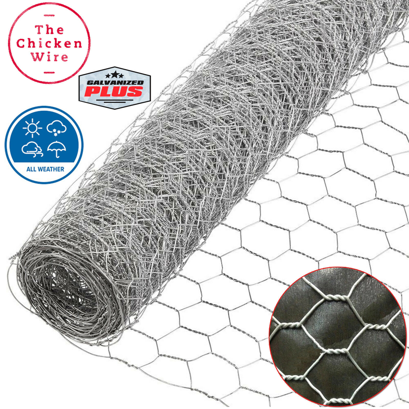 CHICKEN COOP WIRE GALVANIZED STEEL POULTRY NETTING FRAME MESH ...