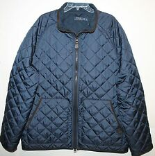 Polo Ralph Lauren Big and Tall Mens Navy Quilt Down Corduroy Accents Jacket 4XB