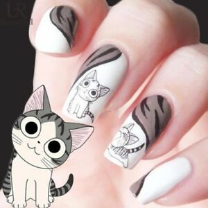 Funny Cat Stickers Nail Art Designs Sweet Cats Kittens Nails Stz 033