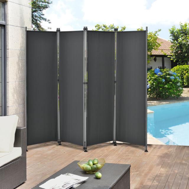 Outdoor Trennwand 170x215cm Paravent Sichtschutz Spanische Wand Garten