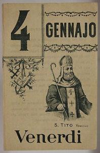 Santo Del Giorno Calendario.Dettagli Su Foglio Di Calendario Santo Del Giorno San Tito Vescovo 4 Gennaio 900 Sa437