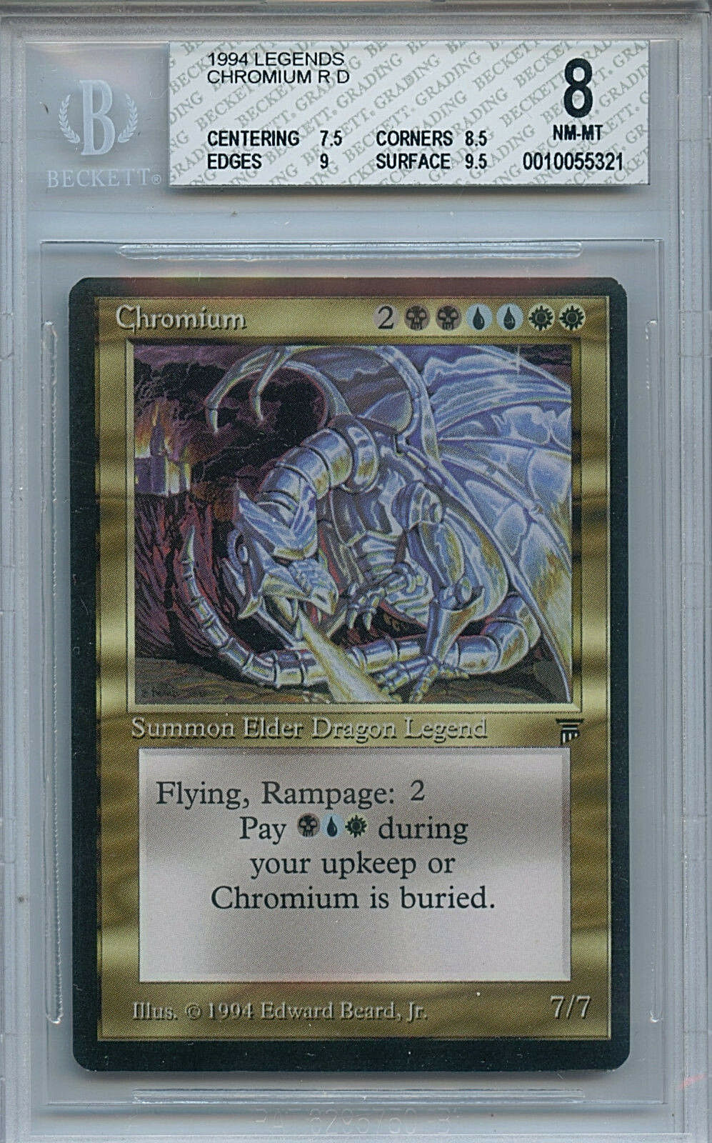 Mtg Legends chromium BGS 8.0 nm - mtwtc Magic Coched 5321