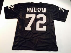 Details about UNSIGNED CUSTOM Sewn Stitched John Matuszak Black Jersey - M, L, XL, 2XL