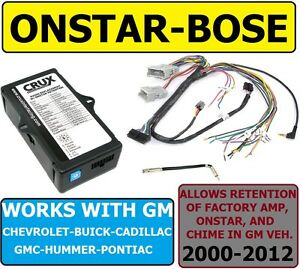 s l300 bose onstar chime amp adapter for 2000 2012 gm vehicles factory  at crackthecode.co
