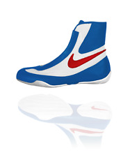 NEW Men's Nike Machomai Mid-Top Boxing Shoes Size: 10 Color: Red/White/Blue