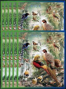 10x-China-PRC-2008-4-Voegel-Birds-Oiseaux-Uccelli-Block-144-Postfrisch-MNH