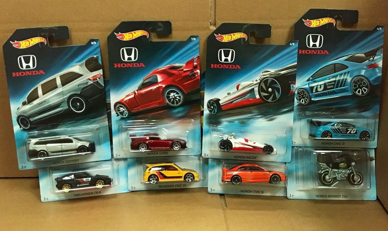 Hot Hot Hot Wheels Diecast-Nueva Serie De Honda Conjunto de 8-Civic Si CR-X Odyssey S2000 dd1bdb