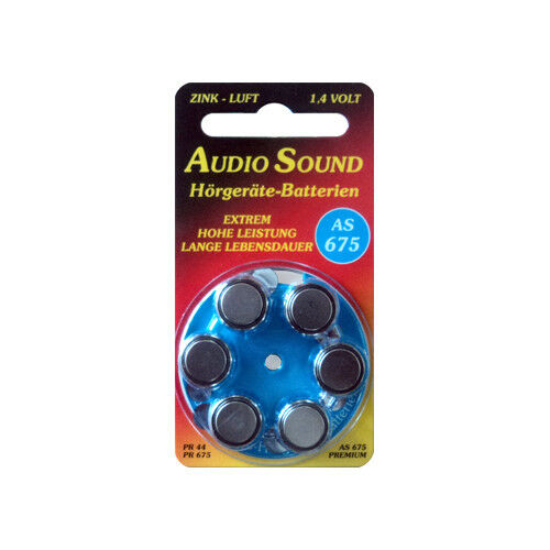 AudioSound Pila Audífono AS 10, 13, 312, 675.
