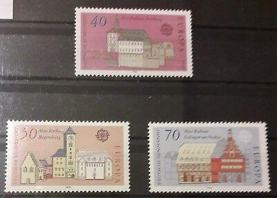 Briefmarken 969/71 Postfrisch Europa Cept Ausgabe 1978 Brd Mi-nr