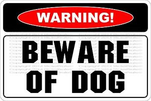 Metal-Sign-Warning-Beware-Of-Dog-8-x-12-Aluminum-NS-553