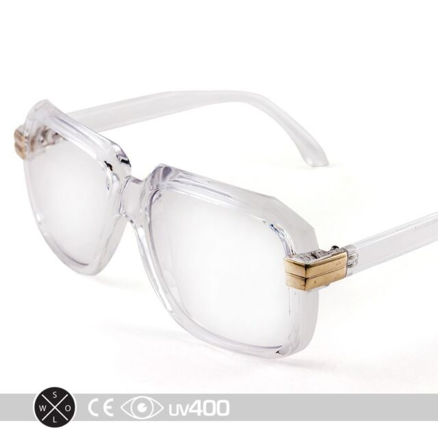 40a1580fdefa Clear RUN DMC Old School Hip Hop Square Vintage Squared Glasses FREE Case  S252