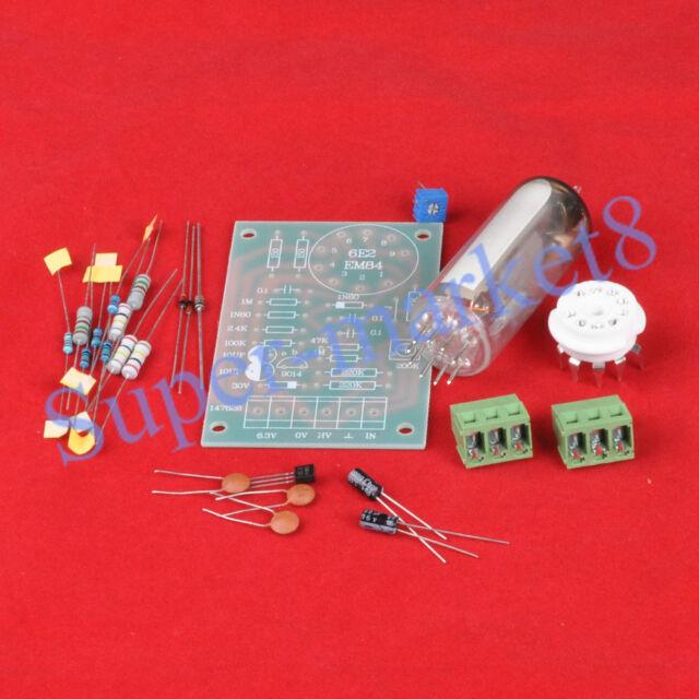 Magic Eye 6E2 EM87 6UH6 EM84 Tube Audio Indicator LOW Level Input DIY Kit