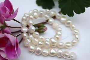 Ov18 cultivadas Strang agua dulce perla joyas cadena collar 5-6 mm oval