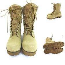 US ARMY DESERT TAN HOT WEATHER COMBAT BOOTS SIZE 6 XN MENS / 4 XN WOMENS