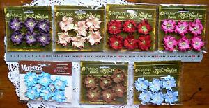 WILD-ROSE-6-Paper-Flowers-3-4cm-across-Penny-Lane-Petaloo-7-Colour-Choice-Ver