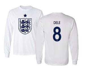 wholesale dealer f02a8 df482 Details about England 2018 Soccer #8 Alli DELE World Cup Long Sleeve T-Shirt