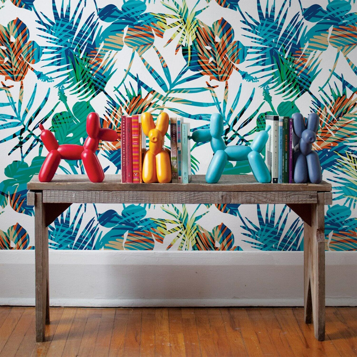 Farbeful flowers Non-Woven wallpaper palm wall Modern Home Mural Traditional