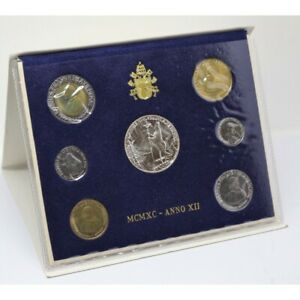 1990-Vatican-Vatican-City-Divisionnaire-Annee-XII-Coins-Lot-FDC-MF29973