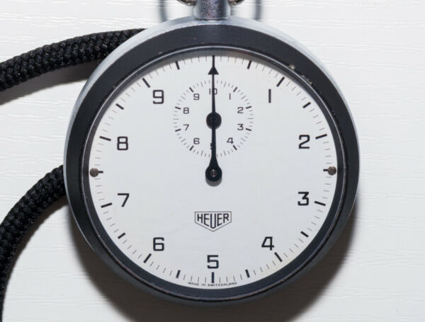 Gutherzig Heuer Stoppuhr Mechanisch, Cal. Leonidas 7700, 1/10sek, 7 Jewels,seltenes Modell