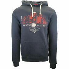 Bench Men's Navy Old School Printed Pullover Hoodie