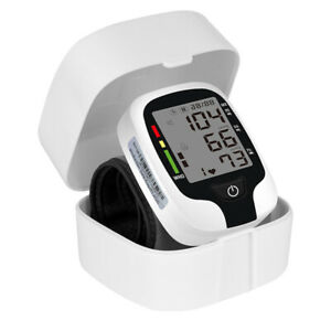 Digital Wrist Blood Pressure Monitor Electric Sphygmomanometer Heart Rate Meter