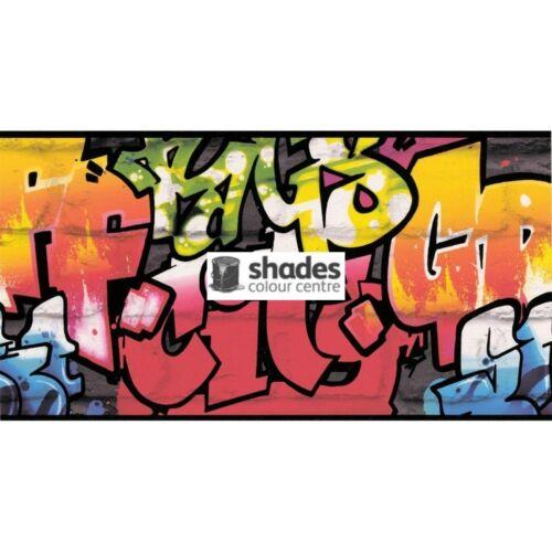 Kids /& Teens II Graffitti Multicoloured Galerie Wallpaper Border 237900
