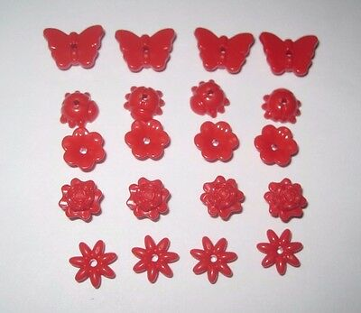 Insect Butterfly Rose NEW 20 PCS Ladybug Lego 93081 Friends Red Flowers