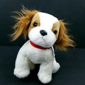 TY Beanie Baby REGAL King Charles Spaniel Dog Stuffed Animal Plush W Red Collar