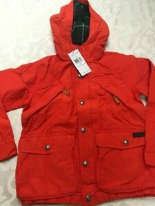 New with tags Ralph Lauren Polo orange trekking hoody jacket boys size 6 $145