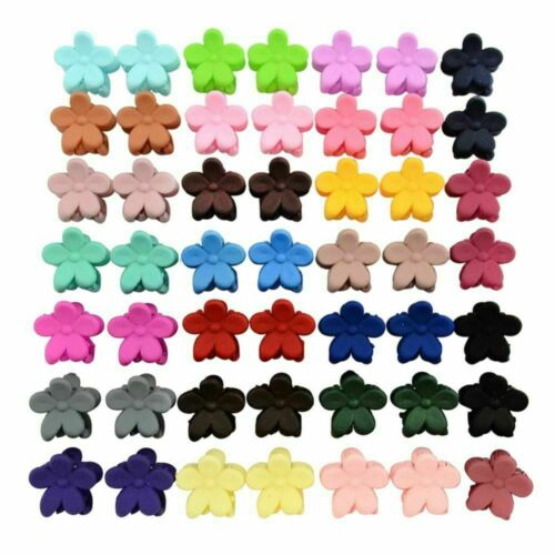 30 PCS Kids Baby Girls Candy Colour Flower Hairpins Mini Claw Hair Clips Clamp
