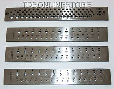 Economy Set Of 4 Steel Draw Plates: Round, Half Round, Square, And Triangle