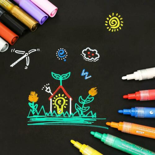 6 Stifte Pastell-Farben Set Marker Farben NEU Angebot Acrylstifte