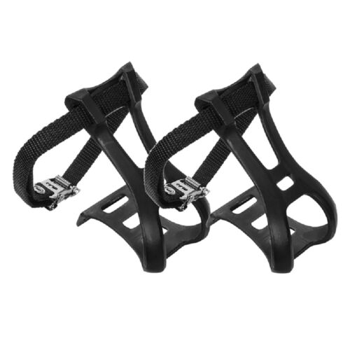 Sunlite Toe Clips With Straps Large ATB Hybrid Road Mountain Bike Bicycle Cage