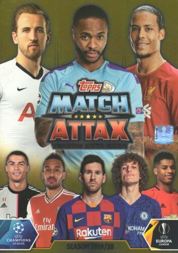 Topps Match Attax 2019//2020 19 20 juego completo de 15 tarjetas Super Escuadrón