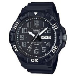 Pre-Owned-Men-s-Black-Casio-MRW-210H-Watch