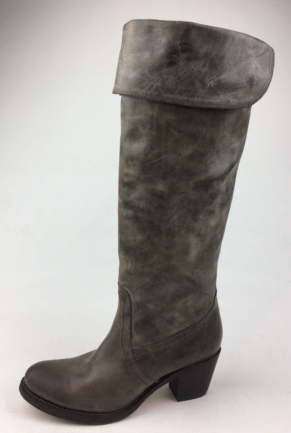 Frye Jane Tall Cuff Cuff Cuff Over Knee Size Stivali Size Knee 6.5B, SLT Slate 787190