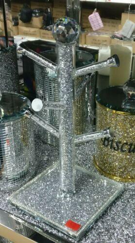 Crushed Crystal Diamant Brillant Tasse Arbre porte-gobelet NEUF