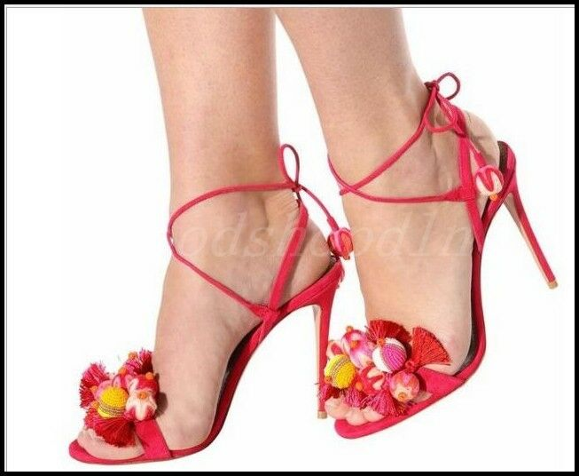 Occident donna Suede Floral Tassels Sandal Hollow Lace Up Slingback Party scarpe