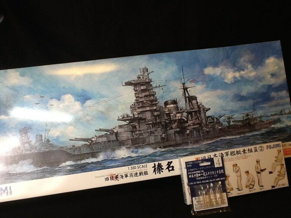 IJN Battle Ship HARUNA 1 350 FUJIMI with the Detail up parts