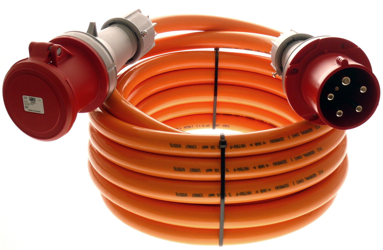 m CEE Verlängerungskabel H07BQ-F Pur Leitung 5g16 5x16 mm² 63A IP44 5m