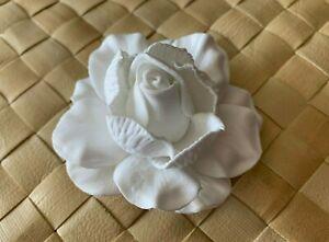 "3/"" FOAM GARDENIA FLOWER Wedding Bridal HAIR CLIP WHITE"