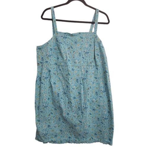 Venezia Jeans Paisley Cotton Dress Womens Size 18… - image 1