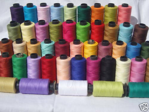 top quality 50 SEWING 100/% PURE COTTON  THREAD 500 Yards each