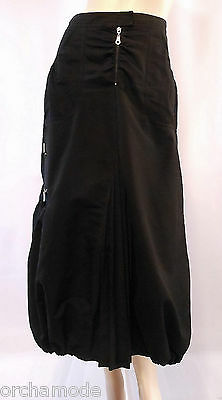 Women's Clothing Capable Jupe Riu Forme Tulipe Noire 100% Coton T 38 M 2 Skirt Rock Tulpe Falda Gonna Tbe