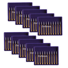10boxes Dental Burr Carbide Burs Mani Type Trimming Finishing Drills Fg 7901